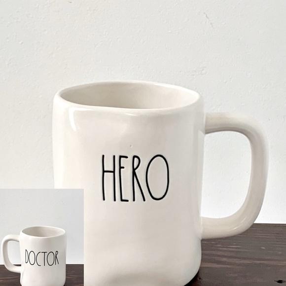Rae Dunn DOCTOR/HERO Double Sided Mug